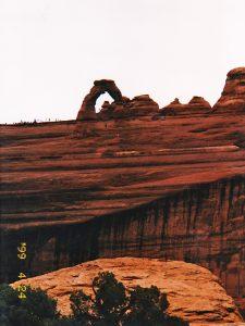 アーチズ国立公園の有名な方の岩